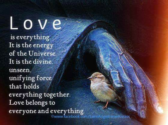 love is the unifing force that holds everything together