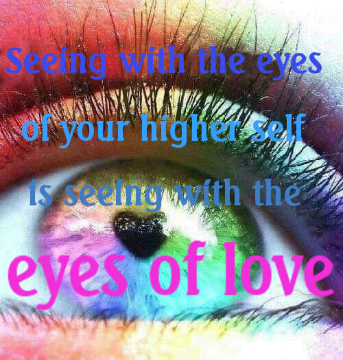 see with the eyes of love